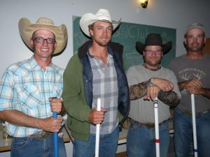 A Event Winners (4 jackets & $800.00) Brad Howe (Empress), Max Nicolson (Australia), Greg Norris (Sibbald), Dale Howe (Empress)